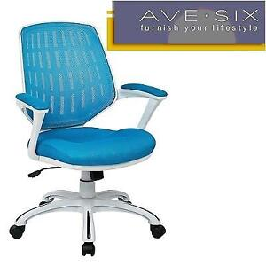 NEW AVE SIX CALVIN OFFICE CHAIR CLVA26-W7 175054760 BLUE BREATHABLE MESH BACK AND SEAT NYLON BASE