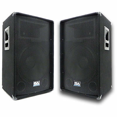 PAIR 15 Inch PA SEISMIC AUDIO SPEAKERS 700 Watt Speaker on Rummage