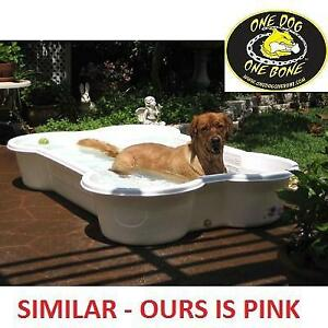 NEW ONE DOG THE BONE PET POOL PBP04 202469656 PINK 85 GAL UV AND CHEW RESISTANT