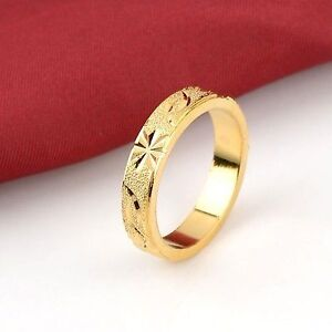 18K Yellow Gold Filled Men's Wedding Ring / Band Size 11 - New!