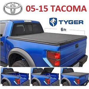 NEW TYGER TRUCK BED TONNEAU COVER TG-BC3T1031 231007921 TRIFOLD 2005 2015 TOYOTA TACOMA