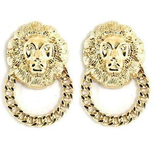 Lion Door Knocker Earrings