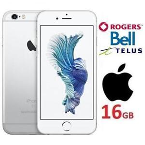 REFURB APPLE IPHONE 6S 16GB PHONE - 131461808 - ROGERS BELL TELUS SILVER SMARTPHONE SMART PHONE REFURBISHED