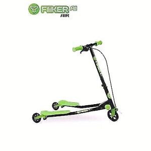 New Yvolution Y Fliker A3 Air Scooter, Black/ Green
