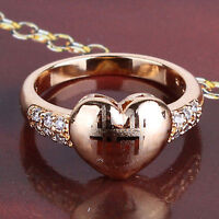 New In Box 18KT Yellow Gold Filled Heart Ring