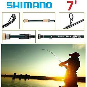 NEW SHIMANO SPINING FISHING ROD CRSDX68MB 247671981 68 CRUCIAL FUJI GUIDES EXTRA FAST ACTION