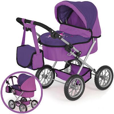 Bayer Design Mein erster Puppenwagen Trendy lila Puppenkinderwagen Kinderwagen