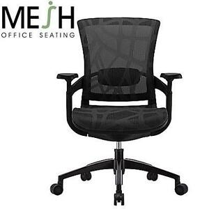 USED SKATE ERGONOMIC MESH CHAIR MESH CHAIR, ADJUSTABLE ARMS, BLACK - FURNITURE DESK CHAIRS SEATING SEATS 104748836