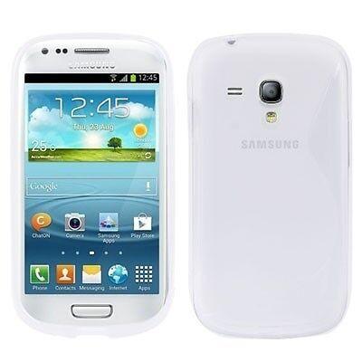 Samsung i8190 i8200 Galaxy S3 mini - Housse silicone souple Blanc transparent