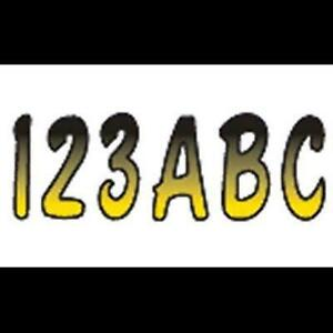 Series 200 Factory Matched 3-Inch Boat & Pwc Registration Number Kit, Yellow / Black