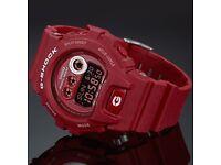 Heathered Red Casio G-Shock (NEVER WORN)