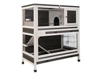 Roomy Indoor Pet House for Rabbits, Guinea Pigs, etc.