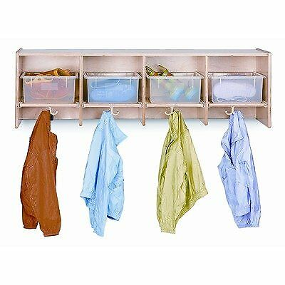 Jonti-craft 07850jc 4 Section Wall Mount Coat Locker With Clear Tubs