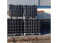 1000 Litre BLACK IBC containers - allotment/rain water harvesting/bulk liquid storage (CAN DELIVER)