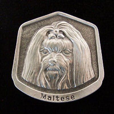 Maltese Fine Pewter Dog Breed Ornament