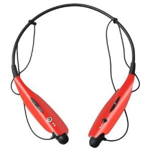 Xtreme XFit Sport Wireless Bluetooth Magnetic Earbuds with Mic and Vibration Alert - Red