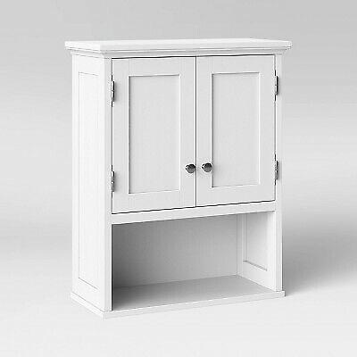 Wood Wall Cabinet White - Threshold