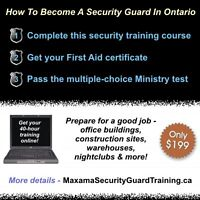 Become a Security Guard or Bouncer - Online Training