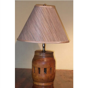 Antique Wooden Hub Lamp