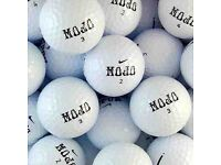 250 x NIKE MOJO GOLF BALLS - PEARL/NEAR PEARL *DELIVERY available ... most balls are new