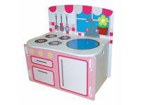 Kids kitchen play TOY BOX & bench!