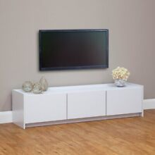 BRAND NEW MELAMINE WHITE TV UNIT FULLY ASSEMBLED, L=160cm Chermside Brisbane North East Preview