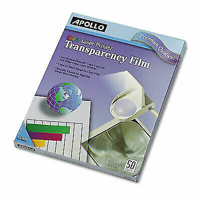 Apollo Color Laser Transparency Film, Letter, Clear, 50/Box (APOCG7070)