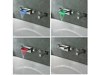 LED Waterfall Bath Tap with shower function