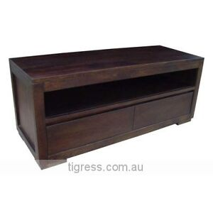 """NEW """"Byron"""" Solid Hardwood TV Entertainment Unit 2 Drawer 145cm Castle Hill The Hills District Preview"""