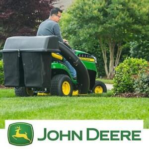 """NEW* JOHN DEERE 42"""" TWIN BAGGER KIT - 133218115 - FOR 100 SERIES TRACTORS - LAWN MOWER MOWERS BAGGERS RIDING TRACTOR ..."""