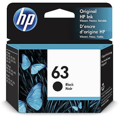 HP 63 | Ink Cartridge | Black | ~190 pages | F6U62AN