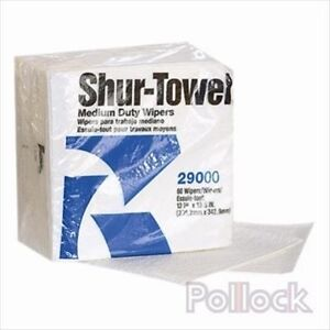 "SHUR-TOWEL 29000 Medium Duty Wiper 13""x13.5"" 4-Ply Scrim Paper"