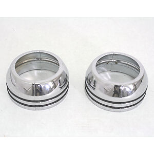 CHROME 41mm FORK BOOT COVERS for HARLEY DAVIDSON ***NEW**