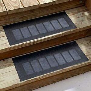 Outdoor Black Set Of 2 Non Slip Rubber Stair Treads New Ebay