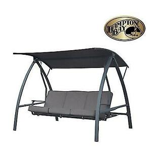 NEW* HAMPTON BAY PATIO SWING SW15001-1-HD 198324787 3 PERSON DELUXE OUTDOOR PATIO FURNITURE