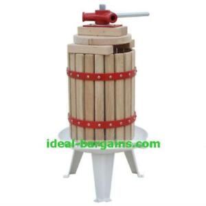 4.7 gallon fruit wine press - apple cider and grape crusher  - free shipping