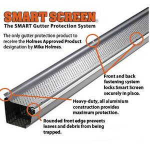 NEW Smart Screen  4' aluminum gutter guards