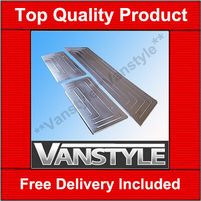 VW T5 TRANSPORTER 3 DOOR ENTRY SET GUARD SILL PROTECTOR COVER STAINLESS STEEL