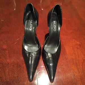 Aldo black learher shoes