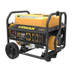 Gas-Powered 4,450 Watt Portable Generator New