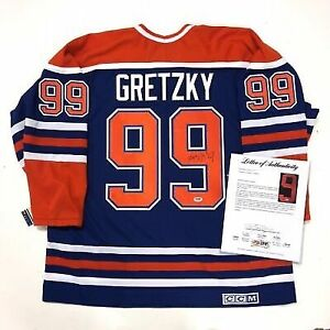 Autographed Gretzky #99 Oilers Jersey