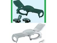 Ole' - Professional foldable sun lounger, with wheels