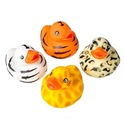 Rhode Island Novelty - Rubber Ducks - SAFARI PRINT DUCKIES (Set of 4 Styles) New](Novelty Rubber Ducks)