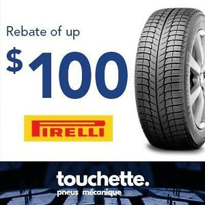 Rebate of up to $100 or 125 CAA dollars with the purchase of 4 Pirelli selected tires