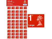 50 x Large Letter 1st Class Self Adhesive Stamps ( minimum 50 sheets 2500 stamps in tottal )
