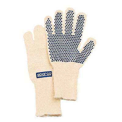 Sparco White Nomex Work/Mechanics Fire And Heat Resistant Gloves