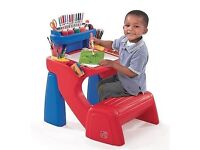 New Step 2 Writing Activity Table Desk Childrens Play Chair Toddler Kids Boy Girl