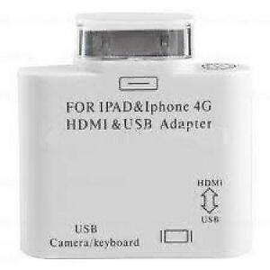 iPhone, iPad and iPod USB & HDMI Video 2 in 1 Adapter - White