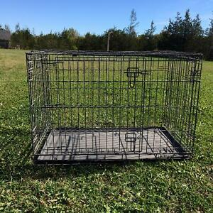 Large Collapsible pet crate with removable bottom  plastic tray
