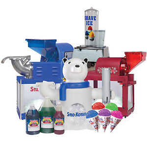 Shave Ice & Sno-Kone® MACHINE AND SUPPLIES - FOR SALE/RENT
